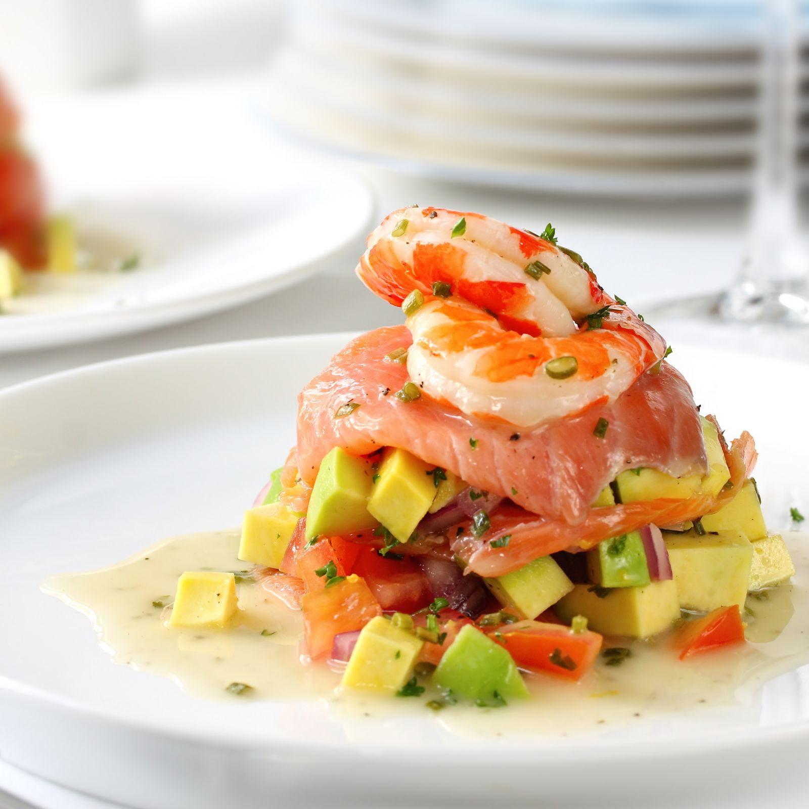 smoked salmon with avocado salsa and prawns.jpg