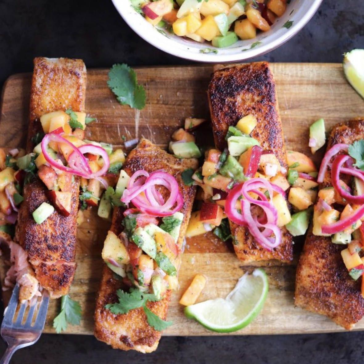 Spice Rubbed Salmon with Peach Salsa.jpg