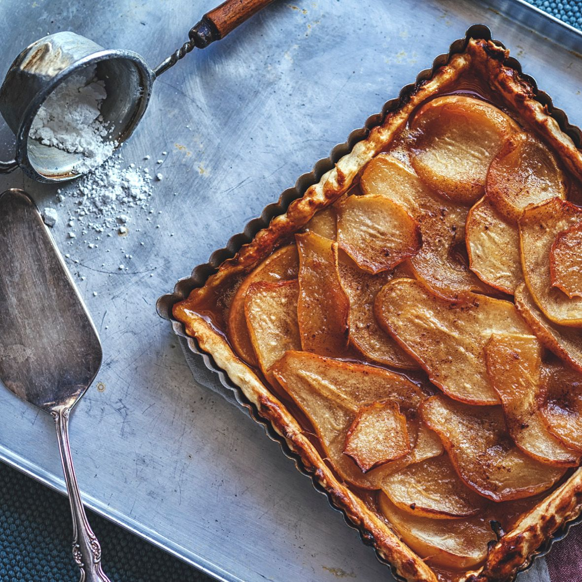 Brown butter and cardamom pear tart.jpg