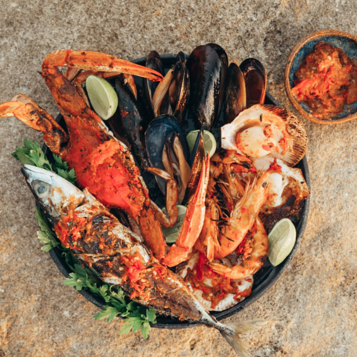 BBQ Seafood with Harissa and Coconut Citrus Glaze.jpg