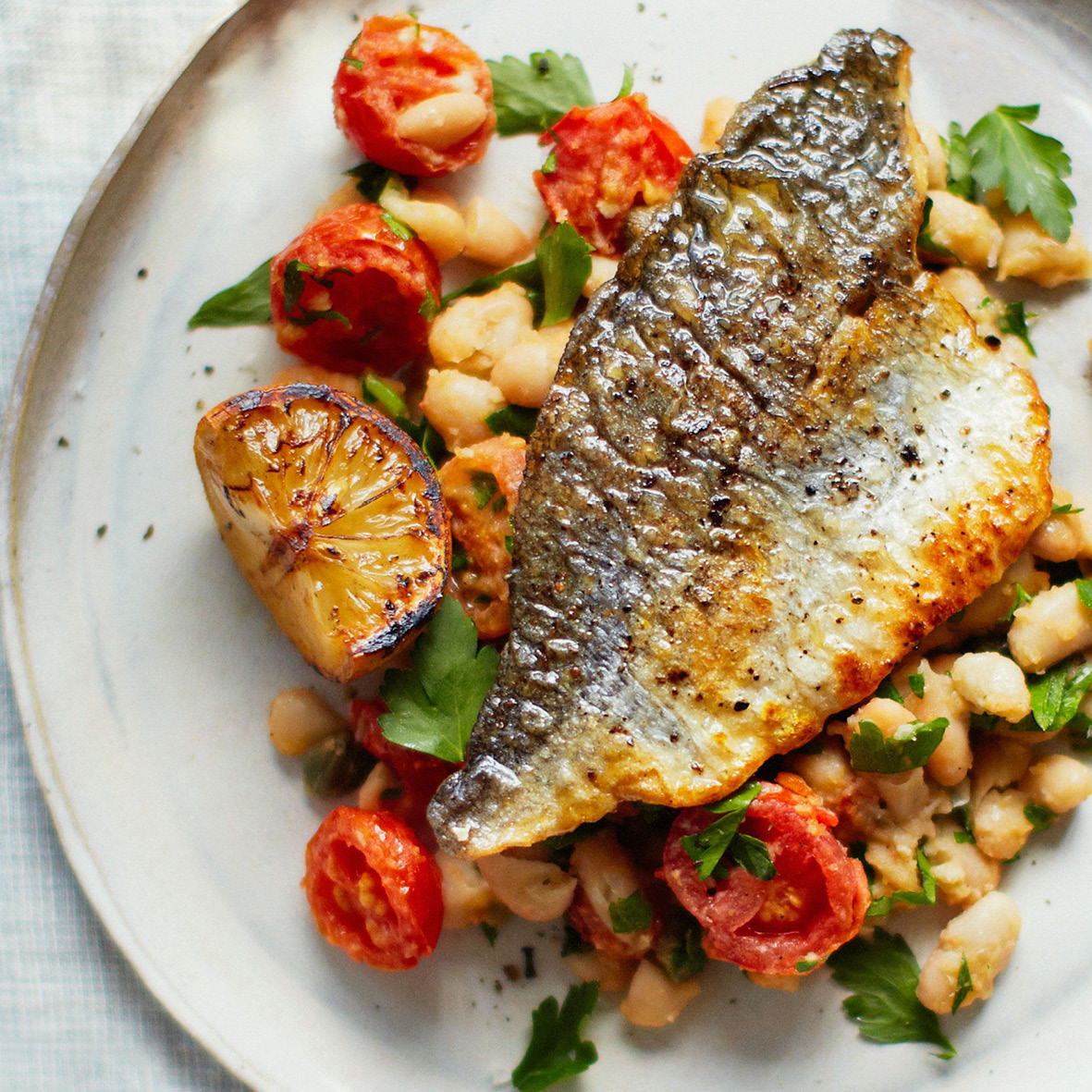 Bream with cannellini beans and tomatoes.jpg