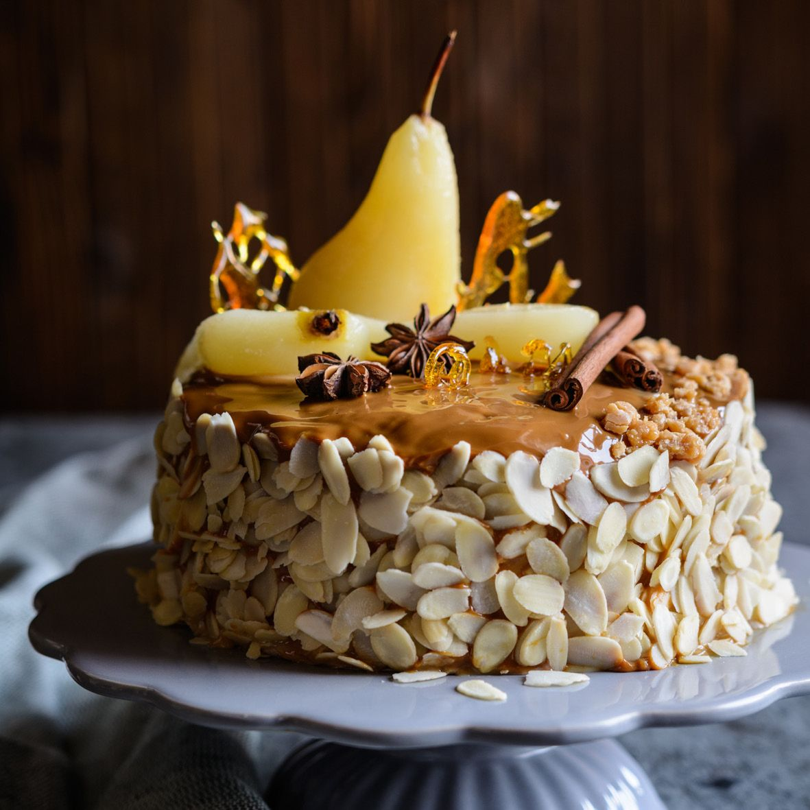 Layered Almond and Honey Cake with Caramel Pears.jpg