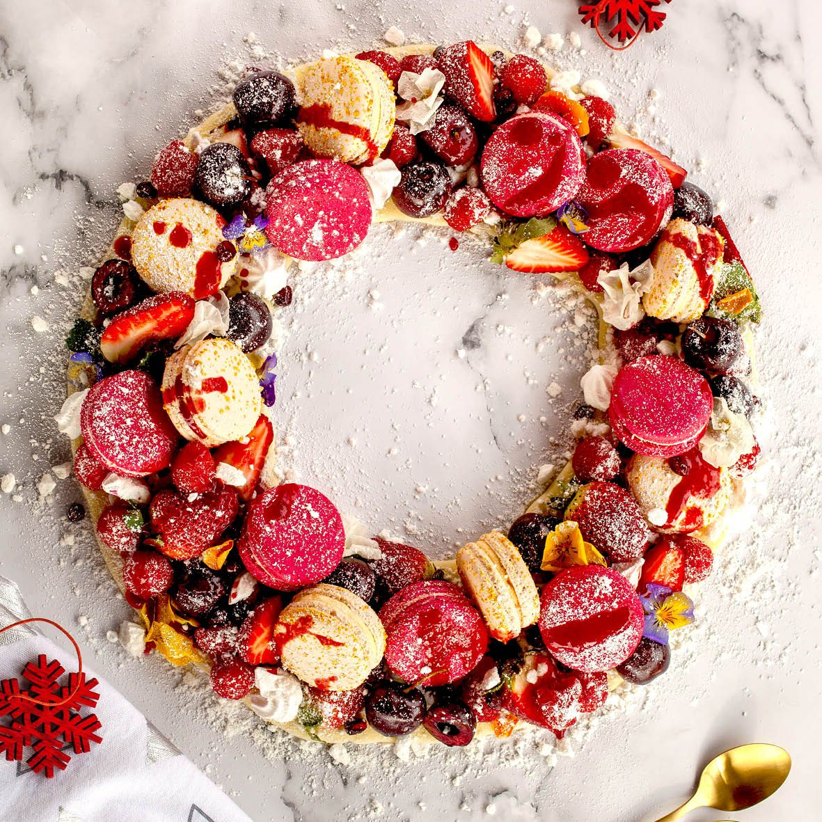 Macaron and Meringue Christmas Wreath.jpg