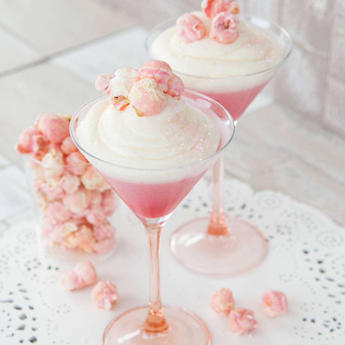 Strawberry and vanilla panna cotta with white chocolate popcorn.jpg